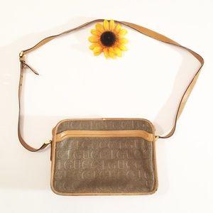 Vintage brown Gucci square crossbody bag/purse